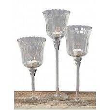 Pahare lumânări Gloss set 3 buc H25-35