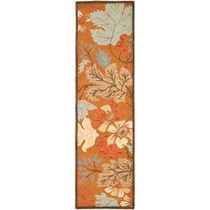 Blossom Orange Area Rug
