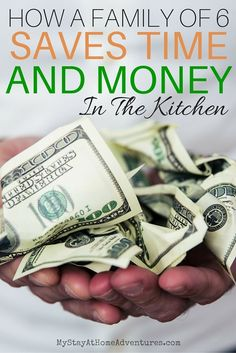 Saving money is important and for a family of 6 doable. Learn how a family of 6 saves time and money in the kitchen and you can too!