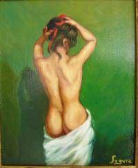 Cuadro pintado al óleo sobre lienzo, med. 24x19 cm.,firmado: Segura