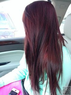 8. Plum #Colored Hair Dark - 29 Hair Inspirations for #Changing up Your Style ... → Hair #Dimensional
