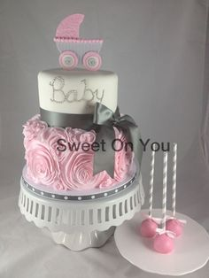 Baby shower cake  So cute when I get a grand baby