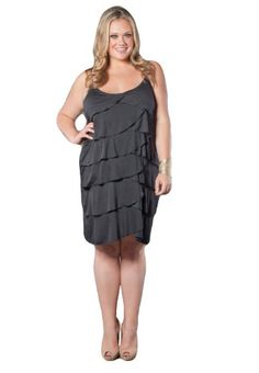 Plus size tiered ruffle dress – Womans wallet and dresses