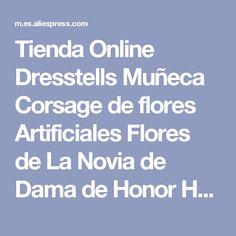 Tienda Online Dresstells Muñeca Corsage de flores Artificiales Flores de La Novia de Dama de Honor Hermanas Partido Decoración de la Boda Banda Elástica | Aliexpress móvil