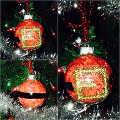 #Santaclaus #belt #ornament I made for #christmas  #diy #crafts #holiday #simple #fun