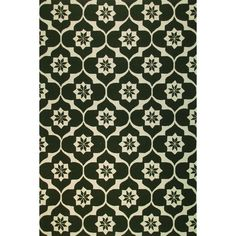 Jofa Olive Handmade Green Area Rug (5' x 8') (25232D /Jofa Oliveolive/IVORY5X8), Ivory, Size 5' x 8' (Polyacrylic, Geometric)
