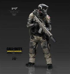 Call Of Duty: Infinite Warfare Concept Art By Aaron Beck Armor Concept, Weapon Concept Art, Concept Ships, Android Robot, Gi Joe, Cod Infinite Warfare, Cyberpunk, Call Of Duty Infinite, Futuristic Armour