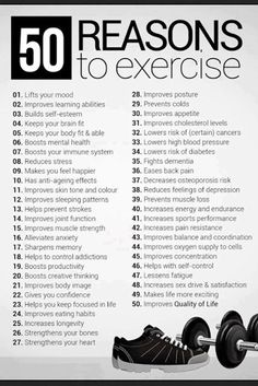 50 reasons To Excercise #quotes #fitness #healthy #lifestyle #inspiration