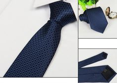 Mens Arrow Type Business Jacquard Spotted Pattern Ties - US$2.88