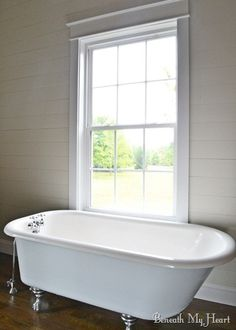 How to refinish a claw foot tub!