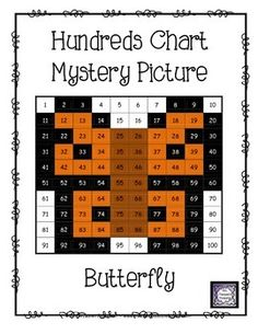 FREE Butterfly Hundreds Chart Mystery Picture - This is a fun worksheet for students to practice place value and recognizing colors and numbers on a hundreds chart. Use the key to color in the boxes and reveal a hidden picture! Great activity for spring!   *Comes in 2 versions for differentiation!