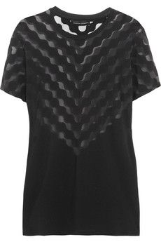 This T does it all from day to night! Travel essential Jonathan Saunders Devoré stretch-jersey top