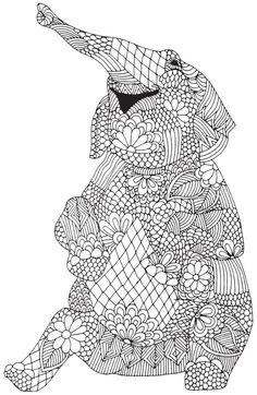 Free Elephant Mandala Coloring Pages