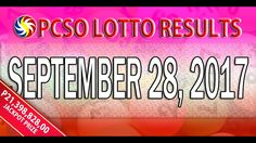 PCSO Lotto Results September 28, 2017 (6/49, 6/42, 6D, SWERTRES & EZ2 LO...