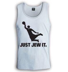 Just Jew It Singlet | Funny Jewish t shirts | israeli-T.com