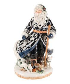 Look at this #zulilyfind! Bristol Holiday Santa Figurine #zulilyfinds