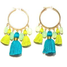 All we need for summer: lots of caftans, one bathing suit, tunics galore, Greek sandals, frayed hat, and tassel jewelry. These earrings are perfect for every summer (and waterside vacation retreat) ou