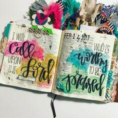 Bible Journaling by @wethreekingsillustrated
