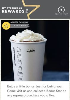 Client : Starbucks Country : US Category : Food