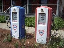 Gas pumps at the Old Lost Mountain Store