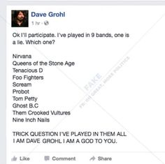All hail Dave Grohl