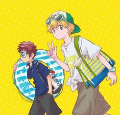 Takeru and Daisuke Digimon Seasons, Digimon Adventure 02, Digimon Frontier, Digimon Tamers, Digimon Digital Monsters, Fanart, Manga Drawing, Me Me Me Anime, Cute Pictures