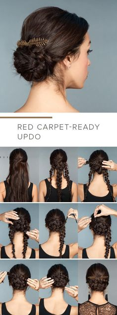 Braided base for a cool updo - 12 Long Hairstyles For Ev. Braided base for a cool updo - 12 Long Hairstyles For Ev. Braided base for a cool updo - 12 Long Hairstyles For Everyone Pretty Braided Hairstyles, Braided Hairstyles Tutorials, Braid Hairstyles, Glamorous Hairstyles, Easy Braided Updo, Step By Step Hairstyles, Fashion Hairstyles, Simple Hairstyles, Beautiful Hairstyles