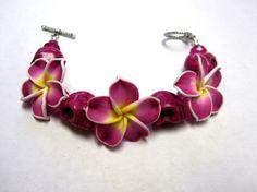 Day Of The Dead Sugar Skull Bracelet Hibiscus by sweetie2sweetie, $21.99