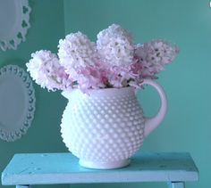 Fenton Milk Glass Hobnail Pitcher