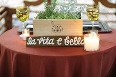 "A Tuscan Themed Wedding   ""Life is Beautiful"""