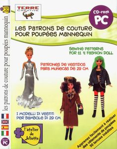 Herbie's Doll Sewing, Knitting & Crochet Pattern Collection: l atelier de juliette DVD - 54 Outfits for 11.5 inch dolls