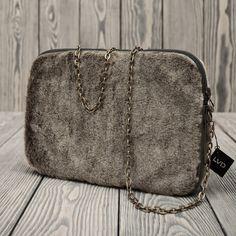 "Lola Victoria Design - Etui na tablet 10"" i iPada lub mała torebka na suwak. Model FURRY & GR"