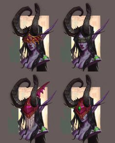 Female Demon Hunter Concepts from World of Warcraft: Legion