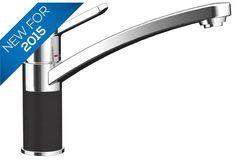 Bluci Compatto Kitchen mixer tap with part Black Granite
