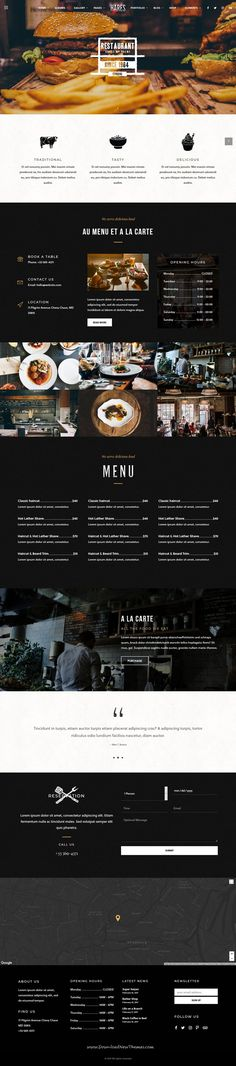Hares is clean, stylish and modern design responsive #WordPress theme for #restaurant #cafe website with 15 niche homepage layouts to live preview & download click on Visit  #foodgasm