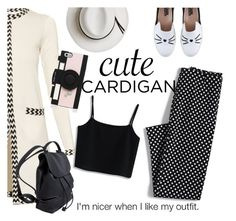 """I'm Nicer When I Like My Outfit"" by clotheshawg ❤ liked on Polyvore featuring Diane Von Furstenberg, Calypso Private Label, Chicwish, Lands' End, Karl Lagerfeld, Kate Spade, cutecardigan and springlayers"