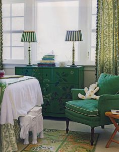 One of my favorite rooms ever from HB by Meg Braff. i remember reading that the chair is Scalamandre fabric and wonder who would ever put that in a kids room!!