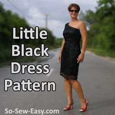 Little Black Dress by Deby Coles | Sewing Pattern - Looking for your next project? You're going to love Little Black Dress by designer Deby Coles. - via @Craftsy