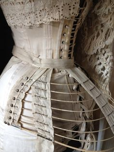 Corset and short bustle
