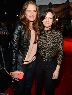 Brooke Shield and Carla Gugino arrived at Justin Timberlake event in the NYC.