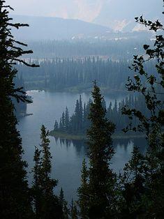 Horseshoe Lake at Denali National Park, Alaska