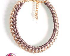 Declaración collar de perlas. Collar de por NikolsFashionRoom