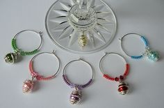 Wrapped Wine Glass Charms