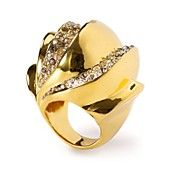 Alexis Bittar Bel Air Gold Sculptural Ring