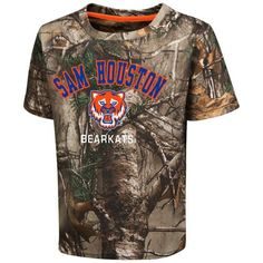 Colosseum Athletics™ Toddler Boys' Sam Houston State University Blacktail Camo T-shirt (Green/Brown, Size 4 Toddler) - NCAA Licensed Product, Toddl...