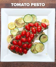 One-Pan Tomato Pesto Salmon