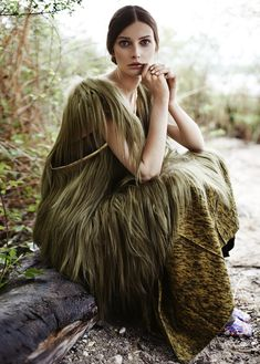 fashion editorials, shows, campaigns & more!: wald fee: petra hegedus and cordula reyer by mateusz stankiewicz for madame germany august 2014 Military Green, Army Green, Petra, Fashion Art, Editorial Fashion, Pink Peacock, Boho Green, Soft Autumn, Forest Fairy