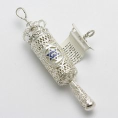 WOW Stunning Sterling Silver Megillah, handmade in Israel. The WHOLE megillah (book of esther) is written on the scroll in side. AMAZING!!!