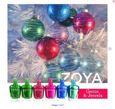Zoya Nail Polish Gems & Jewels Ornament Tutorial