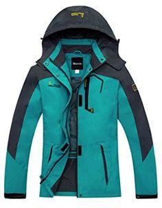 quality design bee72 f8ad1 Amazon.com  Wantdo Women s Outdoor Sports Hooded Windproof Waterproof Rain  Jacket  Clothing